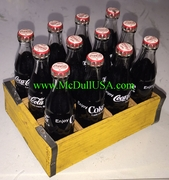 Coke Coca-Cola 12 Bottles with Wooden Crate Year 1964