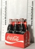 Coke Coca-Cola 6 of Glass bottle with cardboard cradle Year 1962