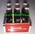 Coke Coca-Cola international miniature bottle with wooden case 6 bottles set