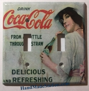 Coke Drink Coca-Cola Old Poster Double