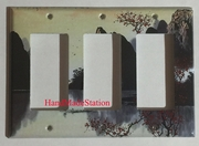 Famous Chinese Landscape Painting Triple