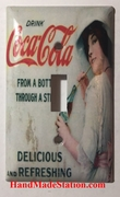 Lady Drink Coca-Cola Old Poster