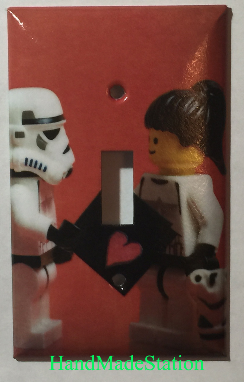Lego Star Wars White Soldiers Love Toggle Light Switch