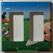 Mickey House Club Cover Plate Double