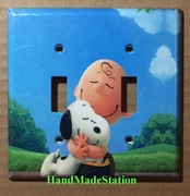 Peanuts Snoopy Charlie Brown Cover Plate Double