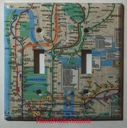 NYC New York City Subway Map Double