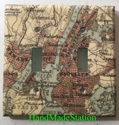 Old New York City Map Double