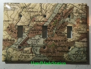Old New York City NYC Map Triple Cover plate