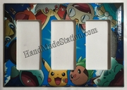 Pokemon and Friends Triple Cover Plate