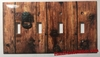 Rustic Barn Wood Door 4 Port Cover