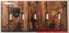 Rustic Barn Wood Door 5 port