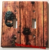 Rustic Barn Wood Door Double Cover
