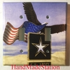U.S. Army with US Flag Eagle Double