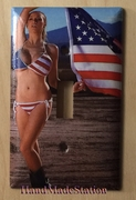 Sex Girl with US Flag