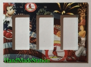 St. Louis Cardinals Mickey mouse Triple Cover