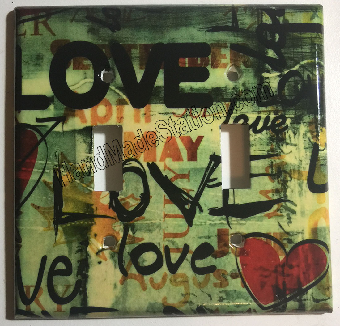 Street Art Wall Painting Love Toggle Light Switch Plate