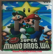Super Mario Luigi Star Mushroom Double Cover plate