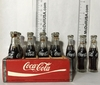 Vintage Miniature Coke Coca-Cola 12 Bottles & Wooden Case set Year 1958