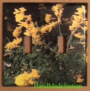 Yellow flowers Double Cover plate