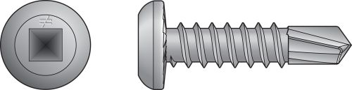 Self-Drilling Flat-Pan-Head Screws