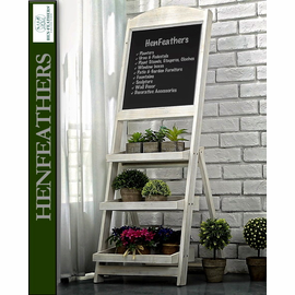 Antique Market Chalkboard w/ Shelves (n)