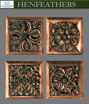 Architectural Tiles/Plaques (Set of 4)