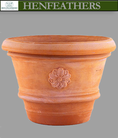 Artisan Rolled Rim Vase with Rosette