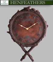 Bird and Branch Clock - Bronze
