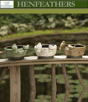 Birds on a Branch and Feather Nest Cachepots Set of 3 (n)