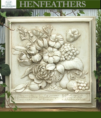 Decorative Wall Plaques vintage botanical decorative wall piece{usa} : henfeathers