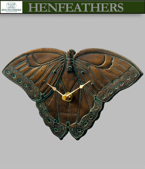 Boutique Butterfly Clock