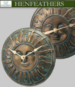 Convex Solstice Sun Clock & Thermometer Set