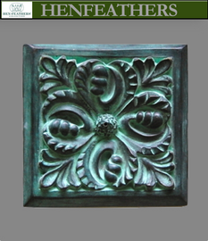 Bronze Wall Tile - Acanthus Leaf 7""