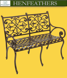 Chambord Bench with Fleur de Lis {USA}n