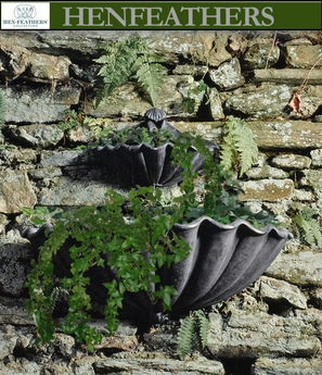 Clam Shell Wall Planter 2pc {USA}