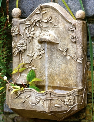 clematis vine garden wall fountain usa