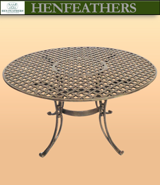Cross Plait Round Patio Table {USA}n