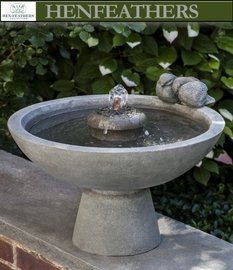 Cuddling Songbirds Fountain