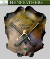 Vintage Dedicated Golf Trophy Wall Clock