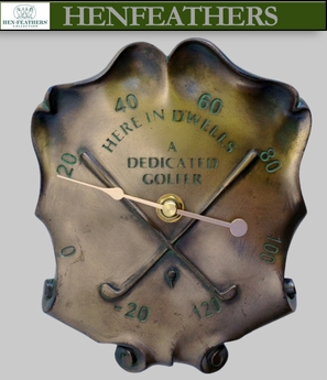 Vintage Dedicated Golf Trophy Wall Thermometer