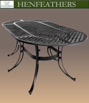 Diamond Plait Oval Patio Table