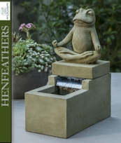 Element Zen Frog Fountain