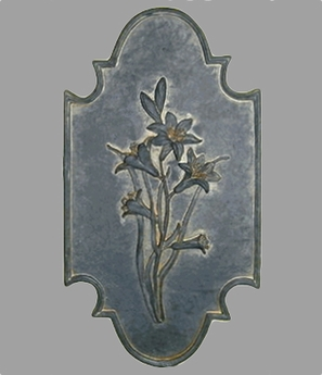 Flower Botanical Plaque -Lily {USA}