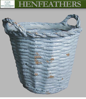 French Basket Planter 14  Provence Blue {USA}n