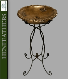 Fruit Birdbath with Metal Stand