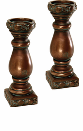 "Fruit Design Candle Holders- 12.25"" H, PAIR"