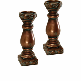 """Fruit Design Candle Holders- 12.25"""" H, PAIR"""