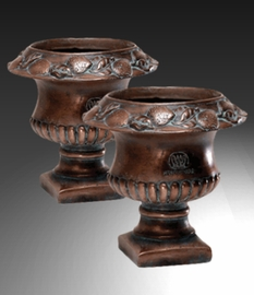 "Fruit Urn - 7.25"", Pair"
