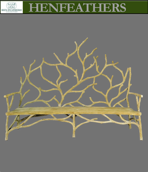 Grand Rivendell Faux Bois Bench Large (n)
