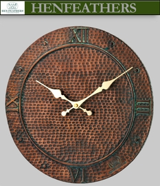 Hammered Copper Clock